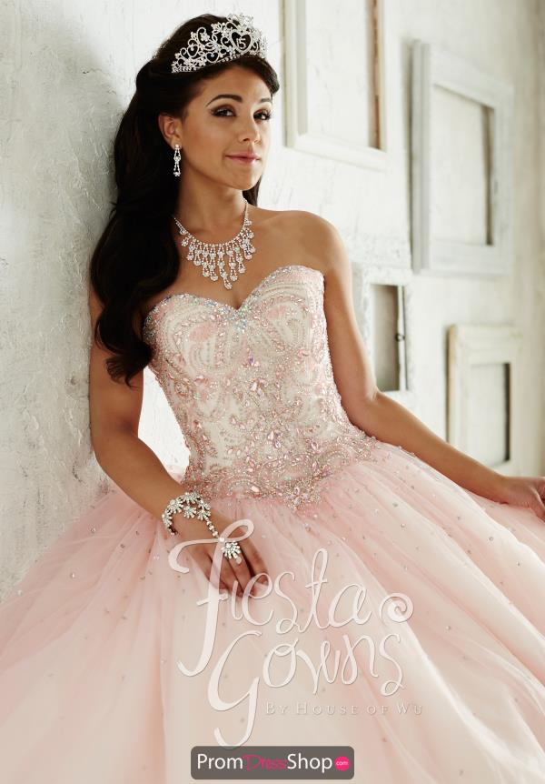 Tiffany Fiesta Quince 56287 Beaded Bodice Dress