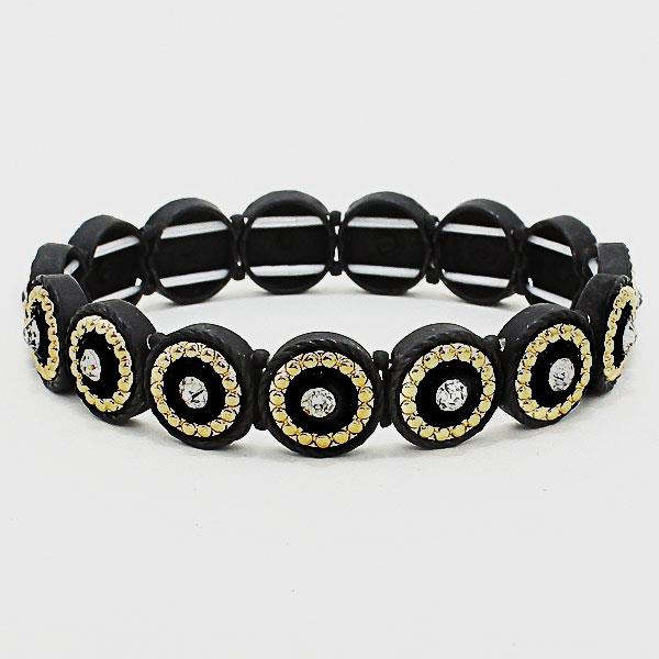 Matte Black and Gold Bracelet style SB0266