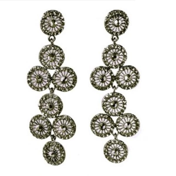 Dangling Gunmetal Earrings PV369