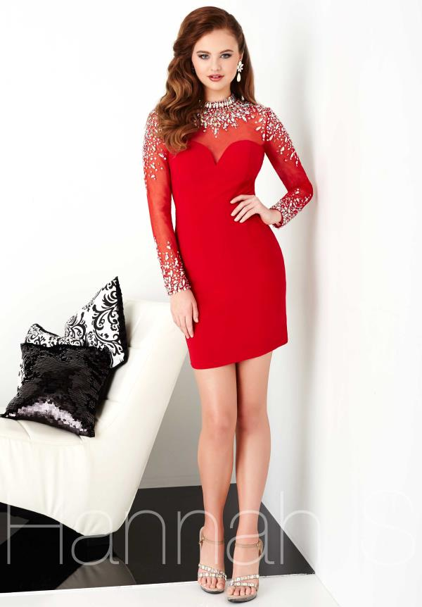 Hannah S Long Sleeved Beaded Dress 27056