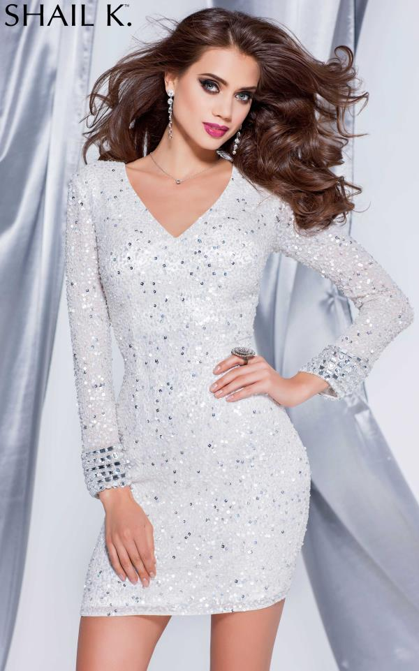 Sleeved Sequins Shail K Cocktail Party Dress 3647