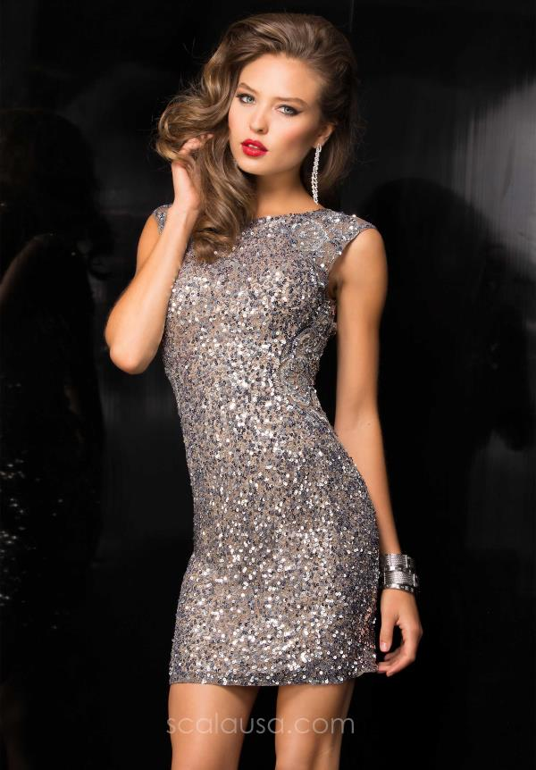 Scala High Neckline Holiday Dress 48484