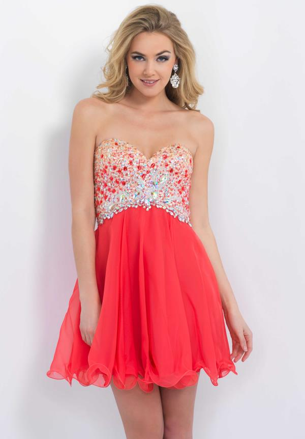 Blush Cruise Wear Beaded Chiffon Dress 10082