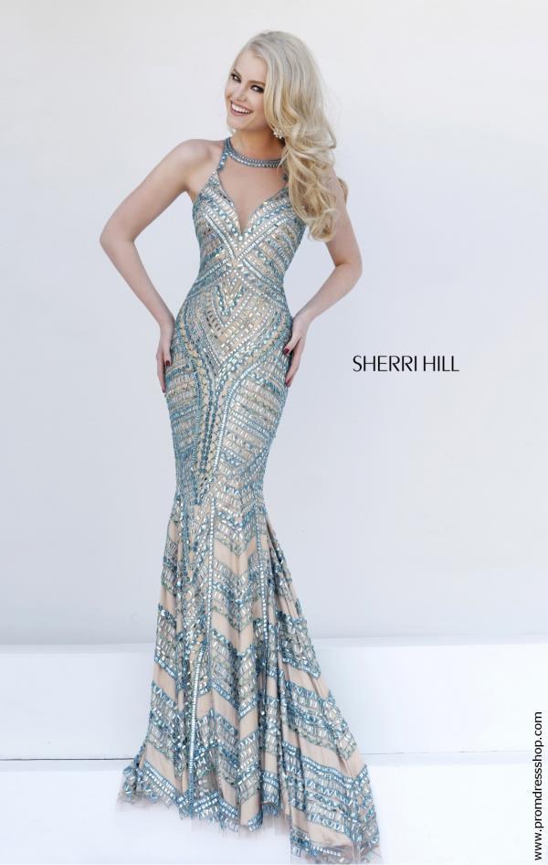 Sherri Hill Prom Dresses Clearance Champagne Color – fashion dresses