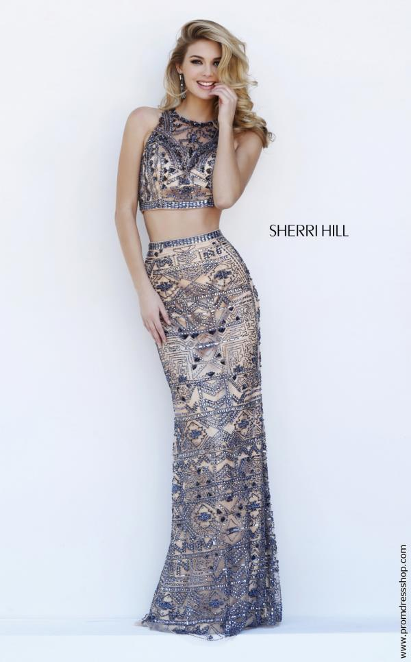 Sherri Hill High Neckline Long Dress 1977