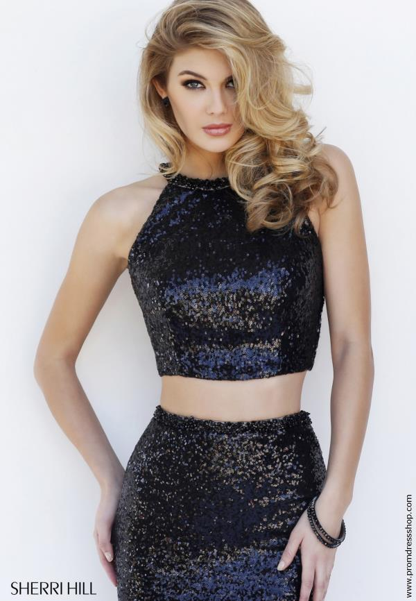 Two Piece Sequins Sherri Hill Dress 32297
