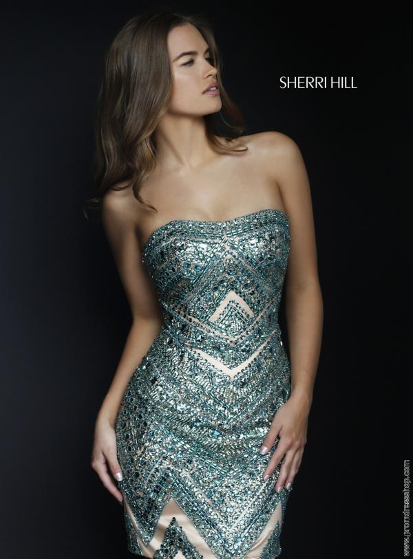 Elegant Fitted Sherri Hill Winter Formal Dress 1956