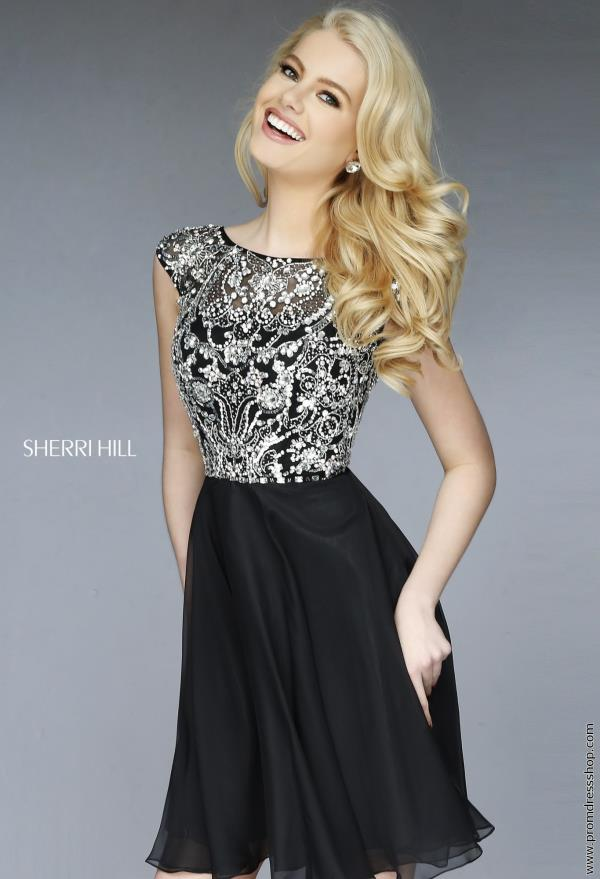 Sherri Hill Short Chiffon Graduation Dress 32320