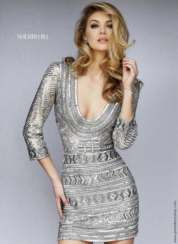 Sherri Hill Short Sequins Fitted Dress 9910