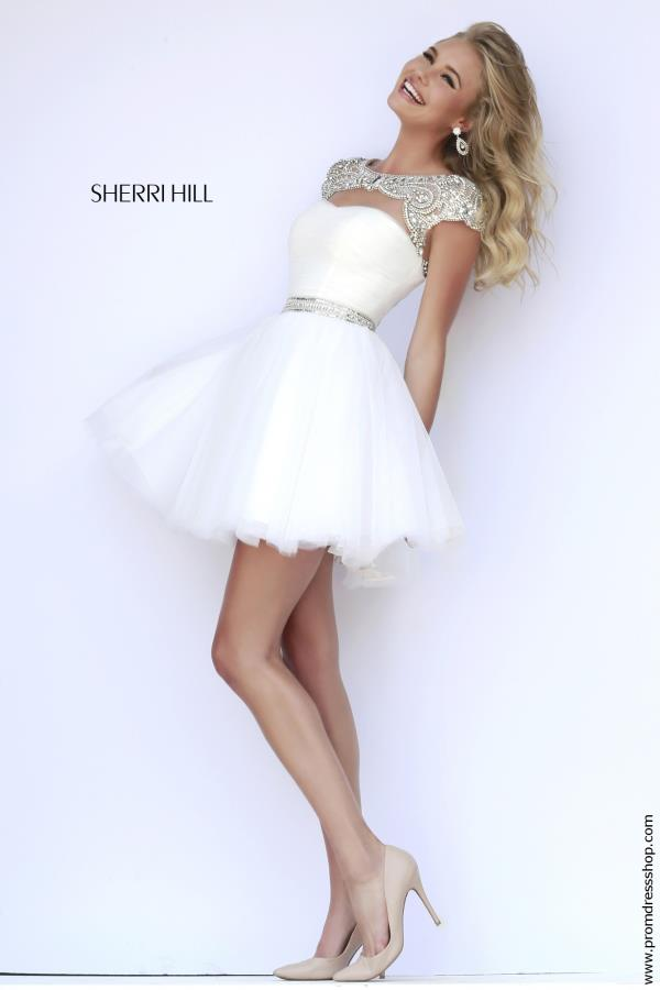 Sherri Hill Short Open Back Dress 11191