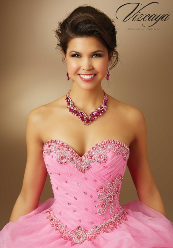 Sweetheart Neckline Beaded Vizcaya Quinceanera Dress 89048