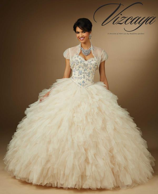 Vizcaya Quinceanera Layered Organza Dress 89057