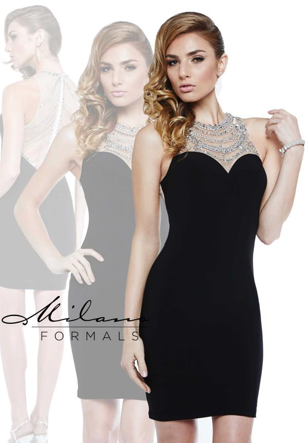 Halter Top Fitted Milano Formals Dress E1895