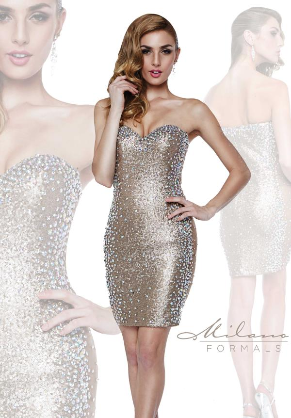 Milano Formals Strapless Short Dress E1470