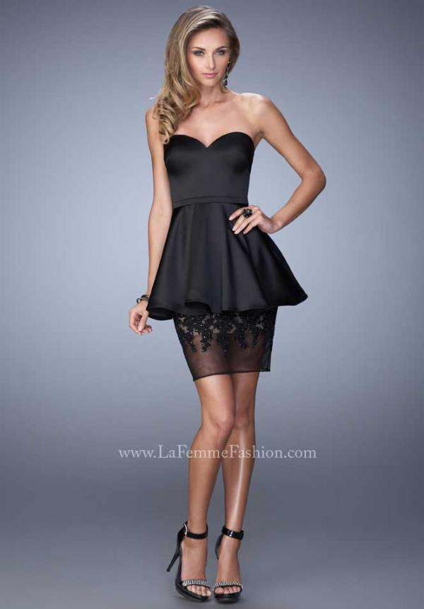Strapless Fitted La Femme Short Dress 21817