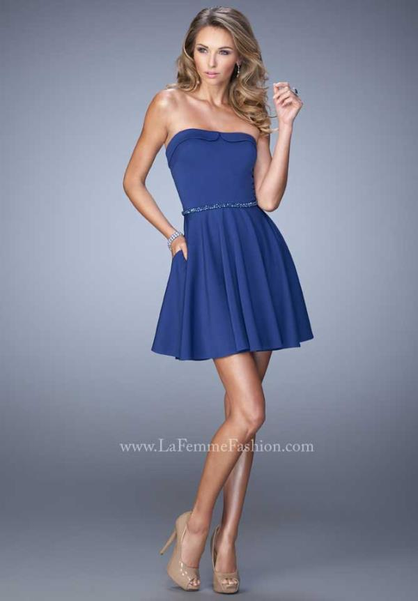 La Femme Short Amazing Jersey Dress 22023