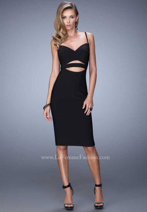 Sexy La Femme Short Cut Out Dress 22045