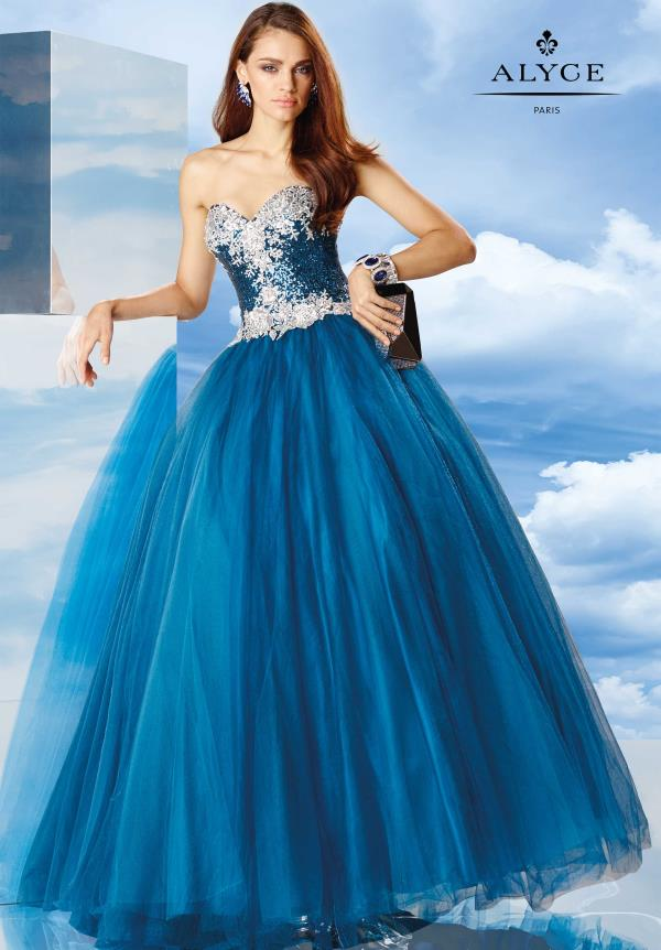 Alyce Paris Beaded Ball Gown 6485