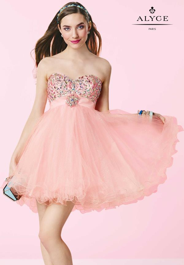Alyce Short Tulle A Line Dress 3640