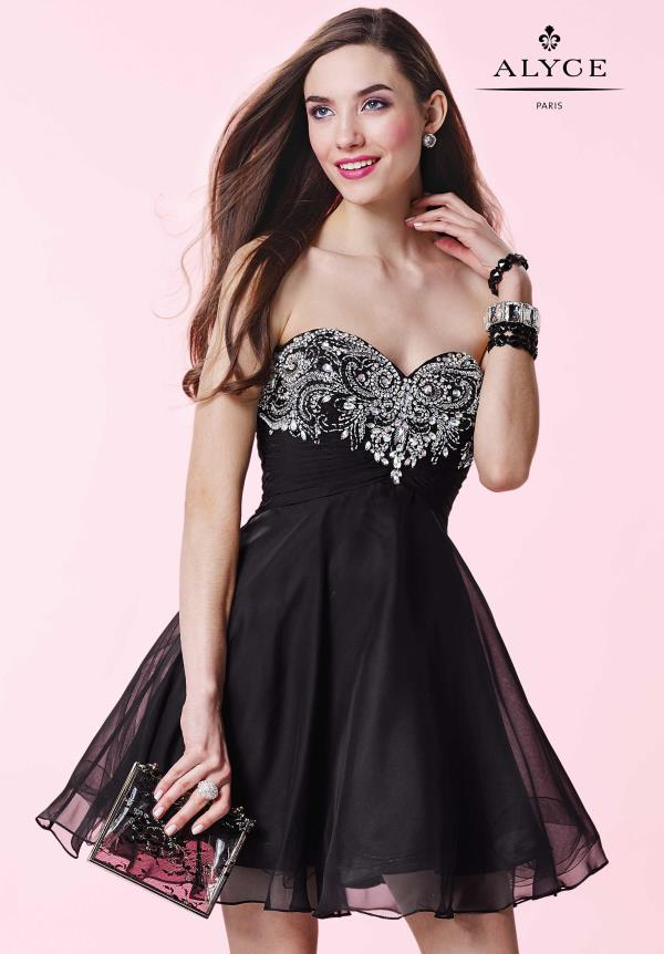 Alyce Short Beaded Chiffon Dress 3658