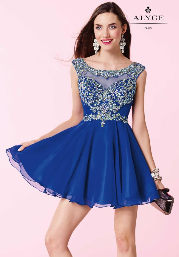 Alyce Short Flowy Chiffon Party Dress 3661
