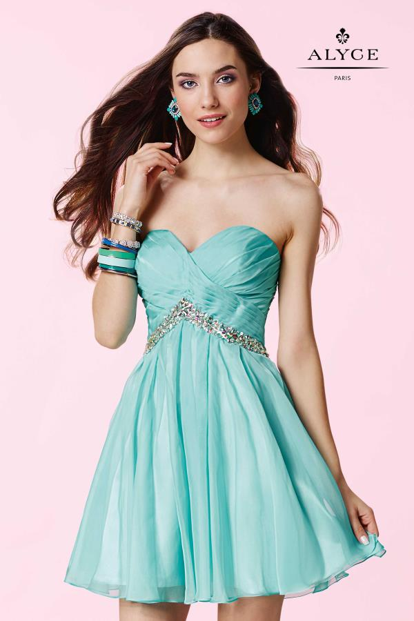 Alyce Short Strapless A Line Dress 3670