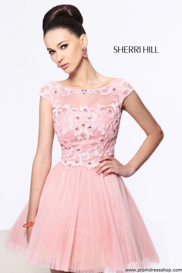 Sherri Hill Short Tulle Skirt Dress 21032