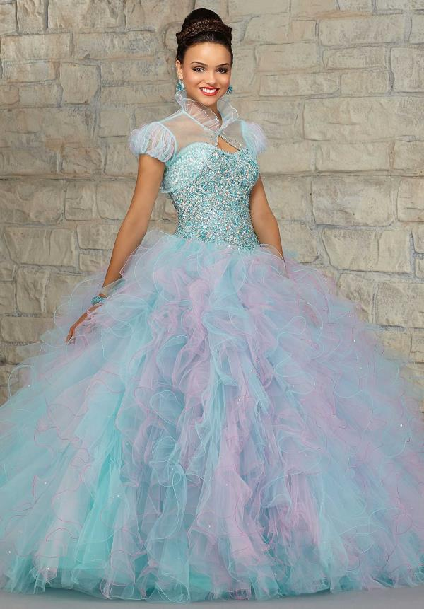 Vizcaya Quinceanera Multi Color Tulle Dress 89021