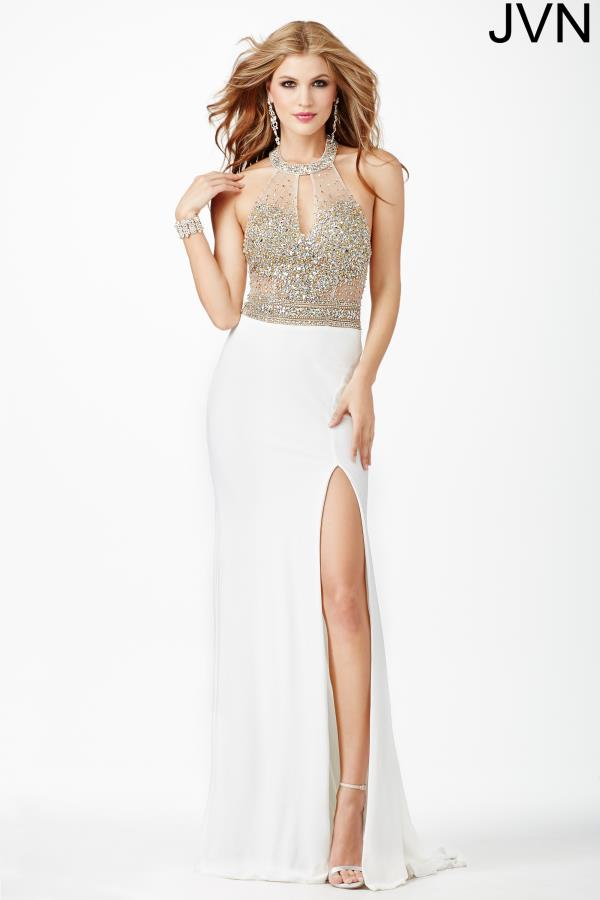JVN by Jovani Beaded Jersey Dress JVN23576