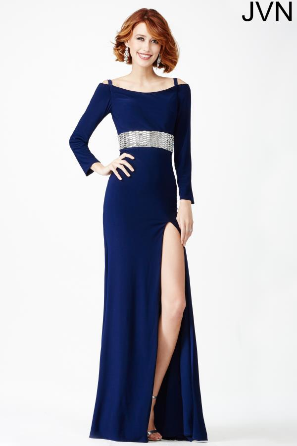 JVN by Jovani Long Jersey Dress JVN24744