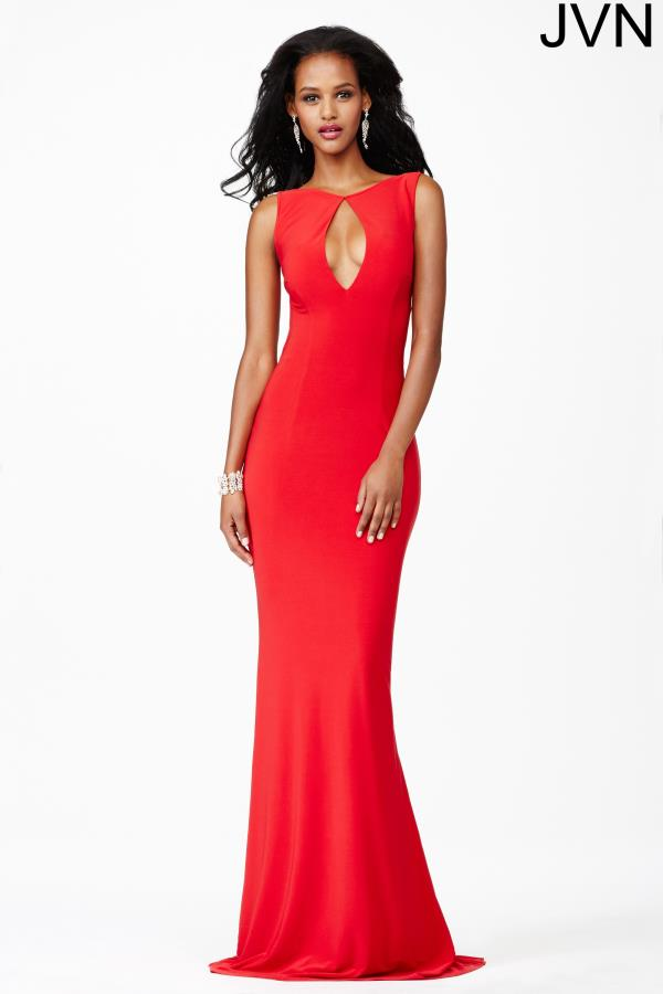 JVN by Jovani Open Back Fitted Dress JVN25409