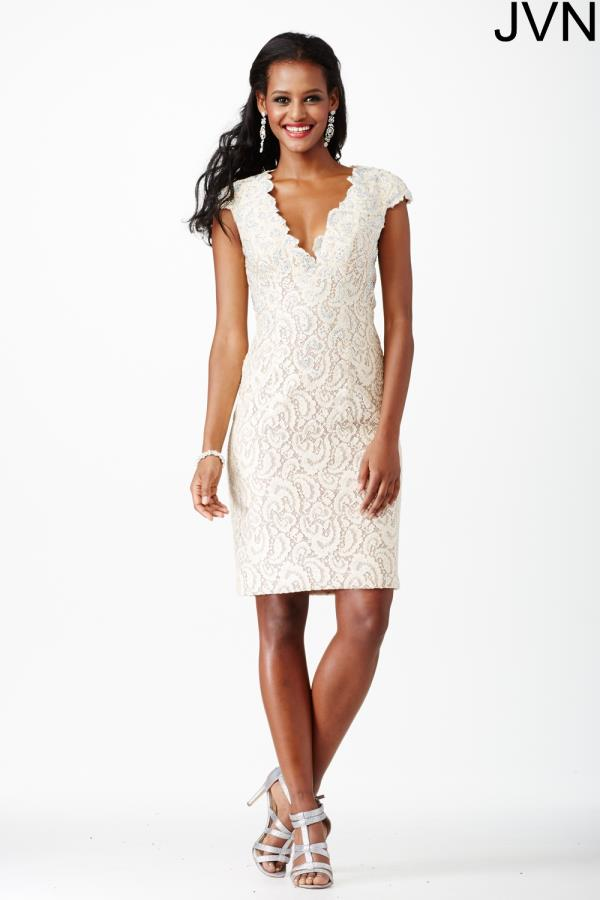 Elegant Lace JVN by Jovani Dress JVN27493