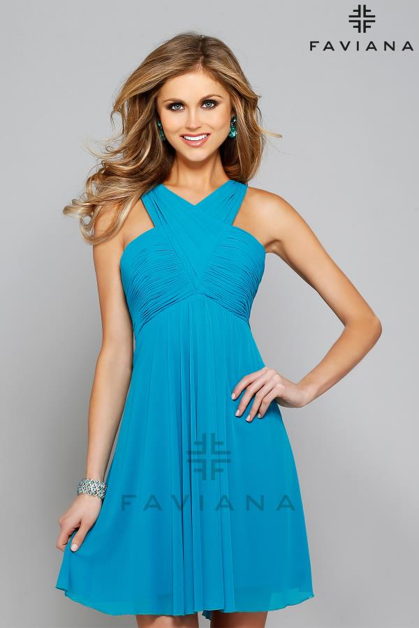 Faviana Cut Out Back Dress 7649