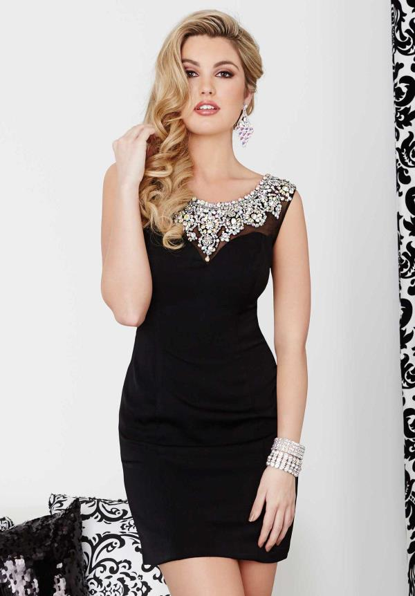 Hannah S Fitted Short Dress 27016