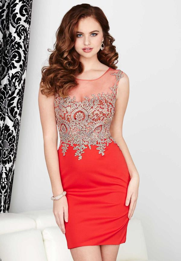 Hannah S Applique Fitted Dress 27035