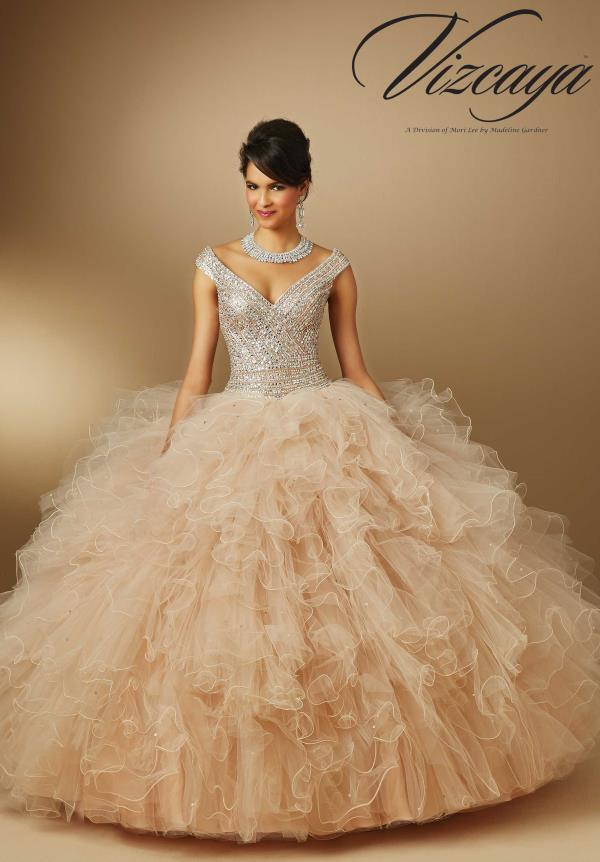 Vizcaya Quinceanera Tulle Skirt Ball Gown 89052