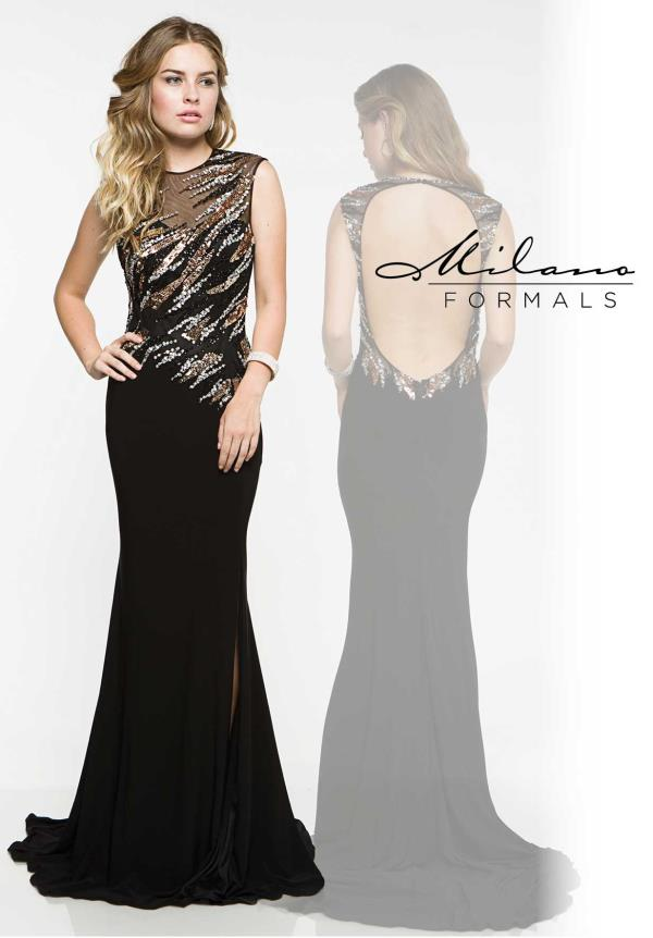 Milano Formals Fitted Long Dress E1843