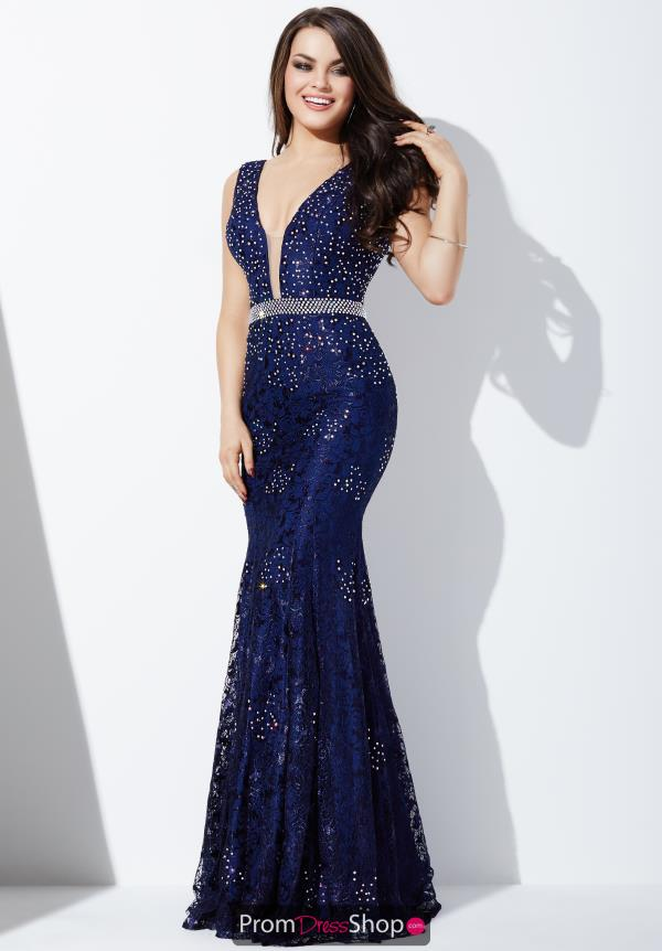 Jovani V- Neckline Fitted Dress 22917