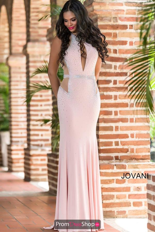 Jovani Sexy Cut Out Pink Dress 23046