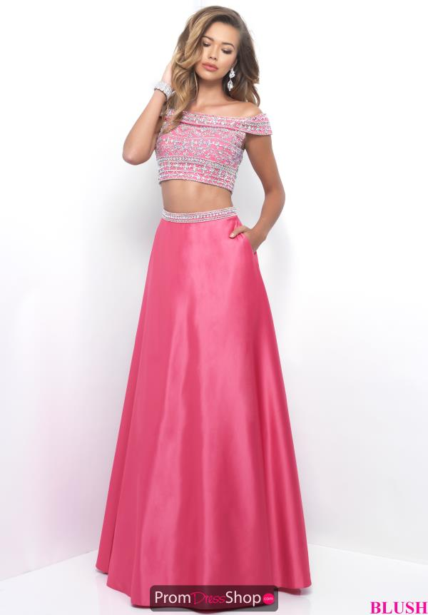 Two Piece A Line Blush Dress 11211