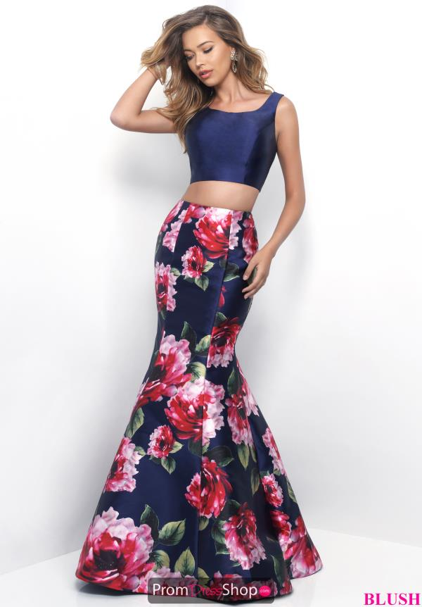 Blush Two Piece Mermaid Dress 11233