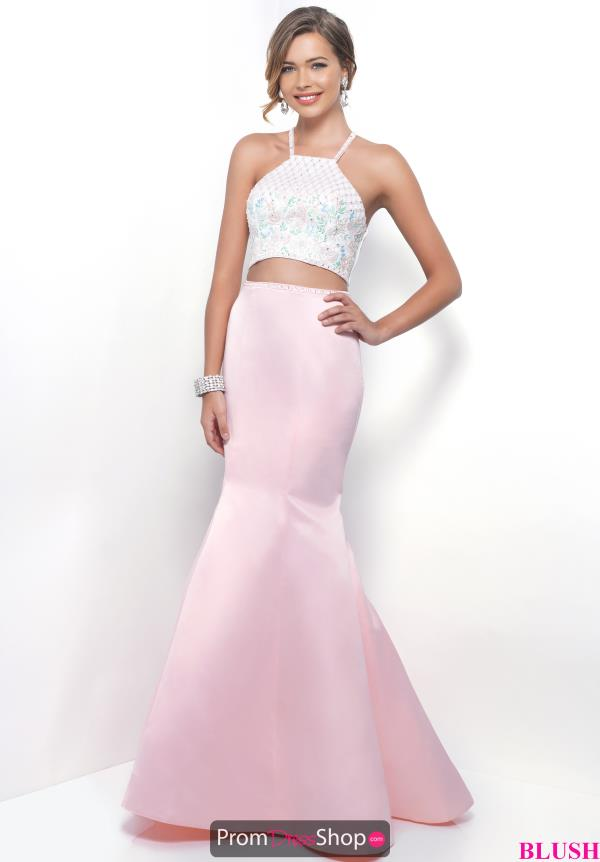 Blush Satin Two Piece Dress 11281