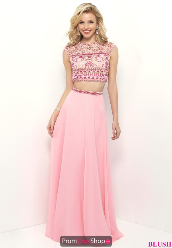 Long Blush A Line Dress 11317