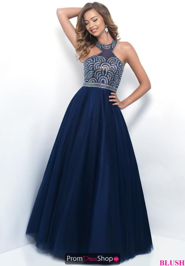 Blush Navy A Line Beaded Dress 5608