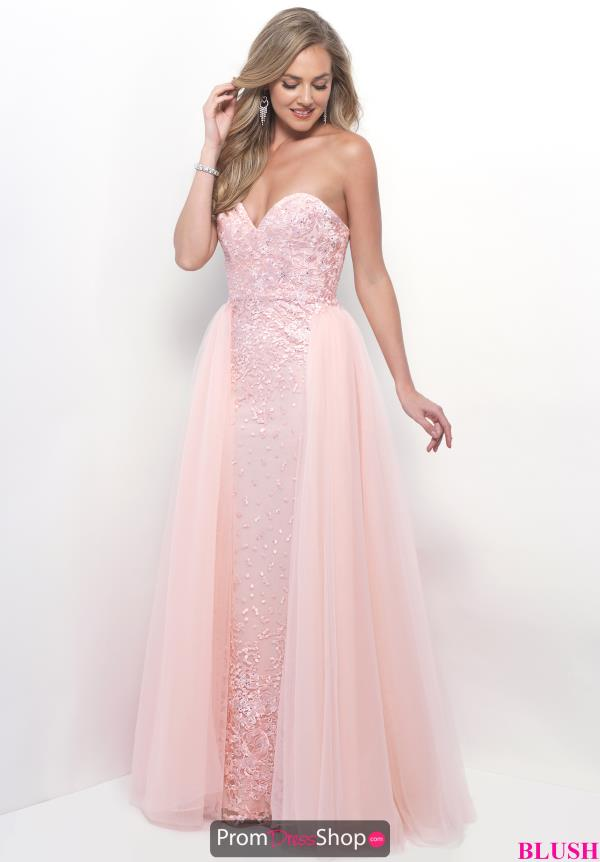 Blush Long Sweetheart Dress 7104