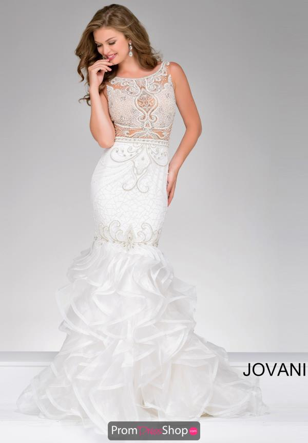 Beaded Long Jovani Dress 36991