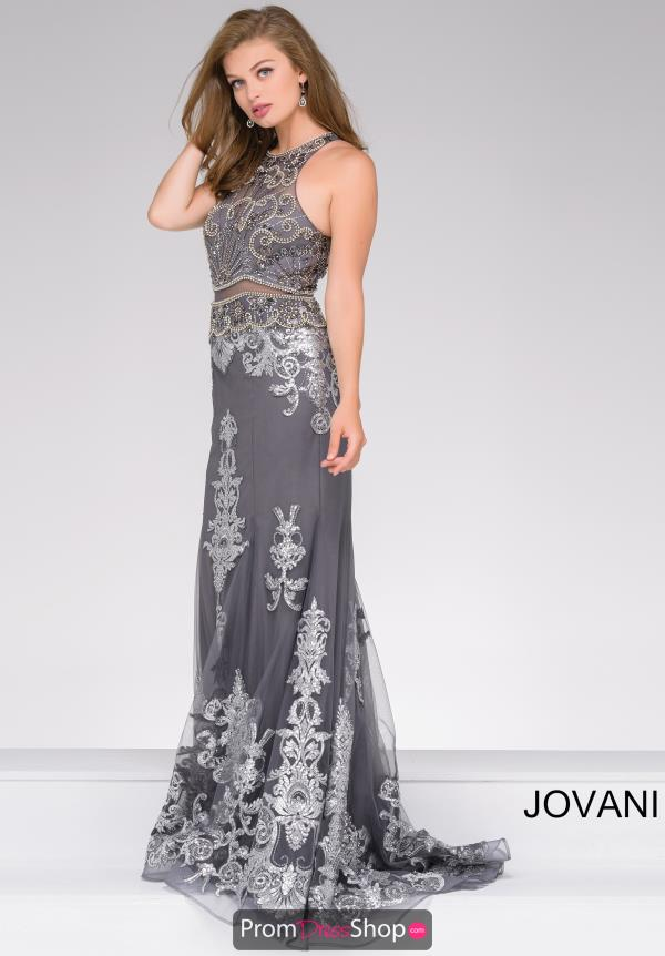 Fitted Long Jovani Dress 48638