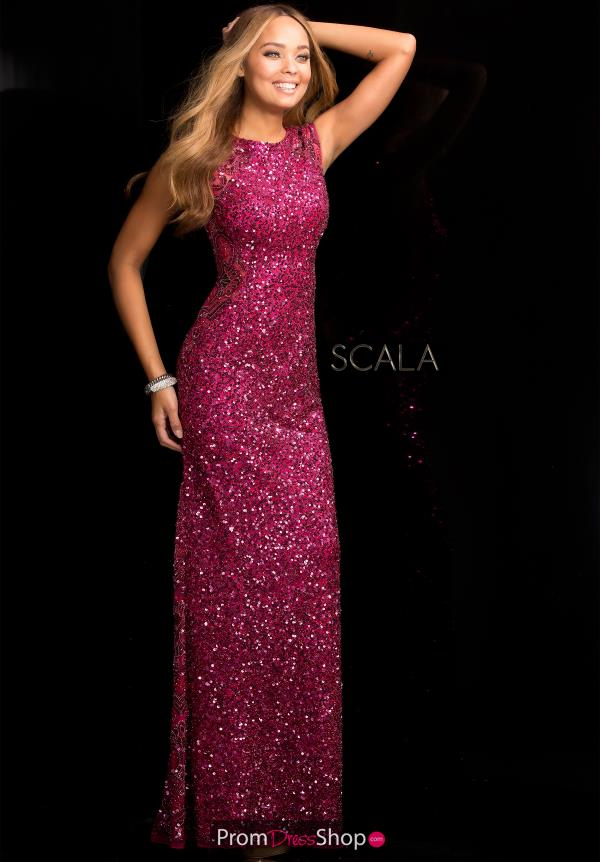 Scala High Neckline Dress 48467