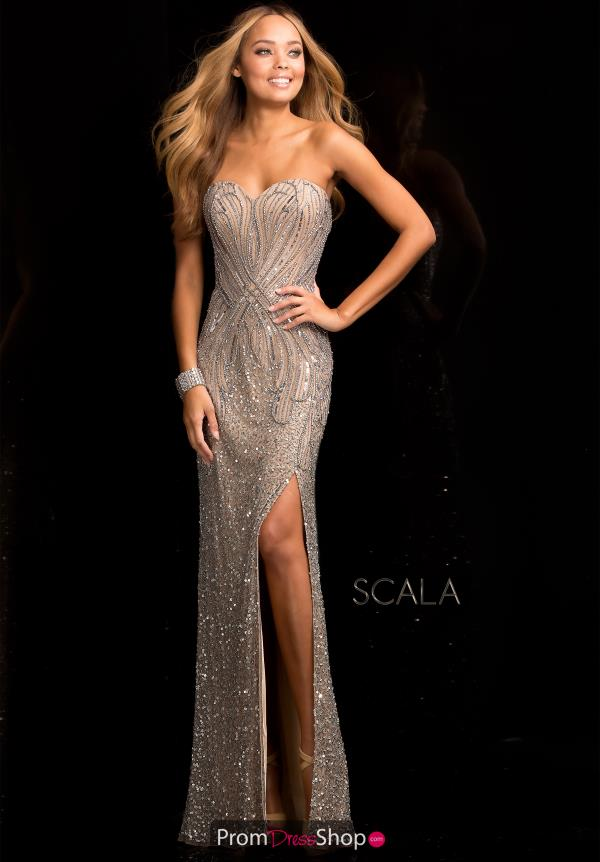 Strapless Fitted Scala Dress 48673