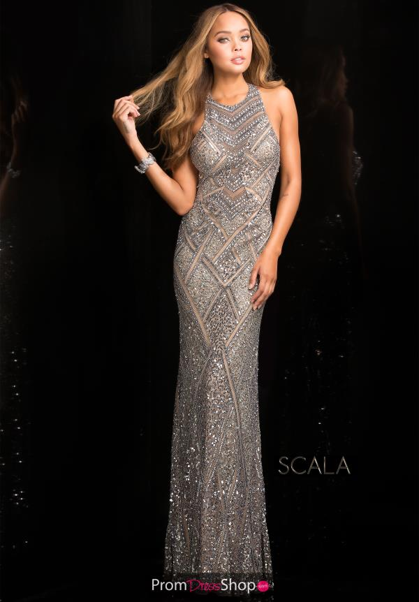Scala Long Fitted Dress 48688